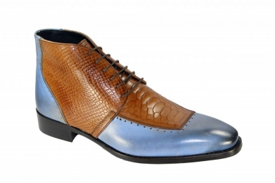 0409 Light Blue-Cognac